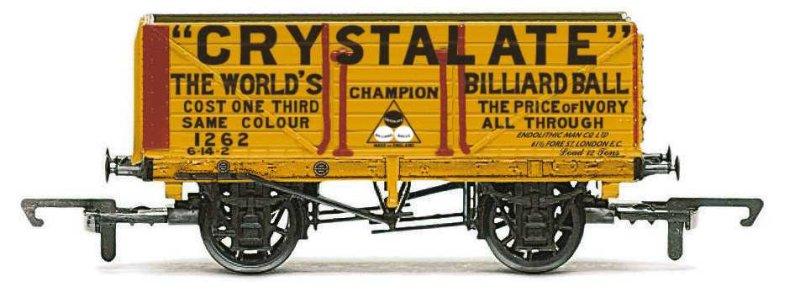 Hornby Vagón nákladní - 7 Plank Wagon 'Crystalate'