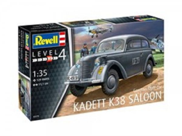 Revell Plastikový model auta German Staff Car KADETT K38 SALOON