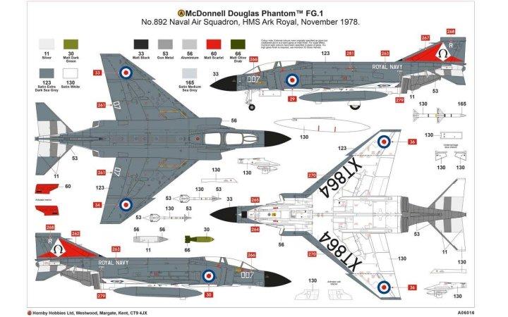 Airfix Classic Kit letadlo - McDonnell Douglas FG.1 Phantom