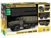 Zvezda ModelKit military - RUSSIAN ARMY TRUCK URAL4320