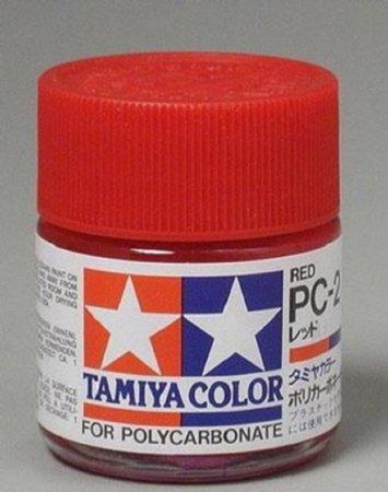 Tamiya Barva na lexanové karoserie - Červená (Red) - PC-2