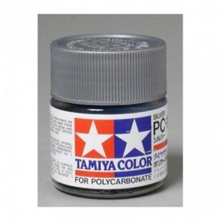 Tamiya Barva na lexanové karoserie - Stříbrná (Silver) - PC-12