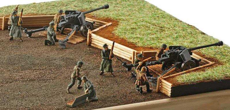Revell Plastic ModelKit figurky - German 7,5 cm PaK40 & soldiers
