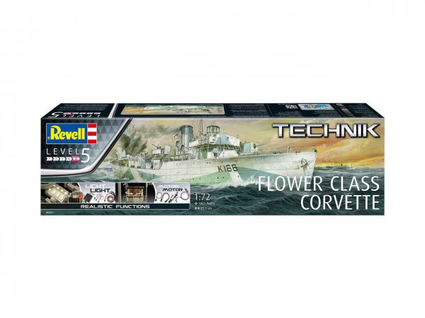 Revell TECHNIK - Plastikový model lodě Flower Class Corvette