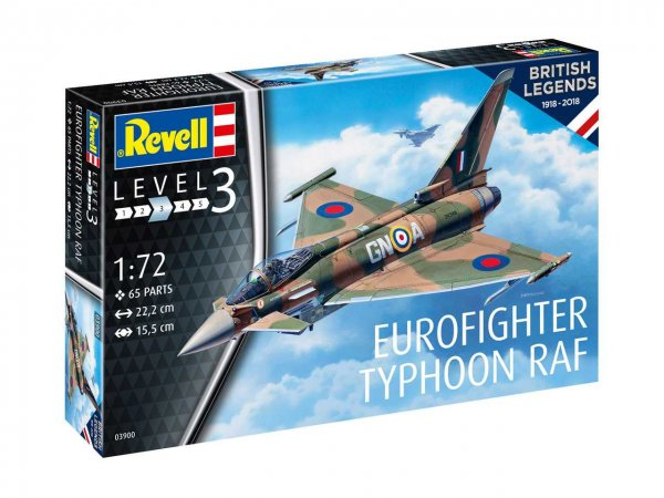 Revell Plastikový model letadla 100 Years RAF: Eurofighter Typhoon