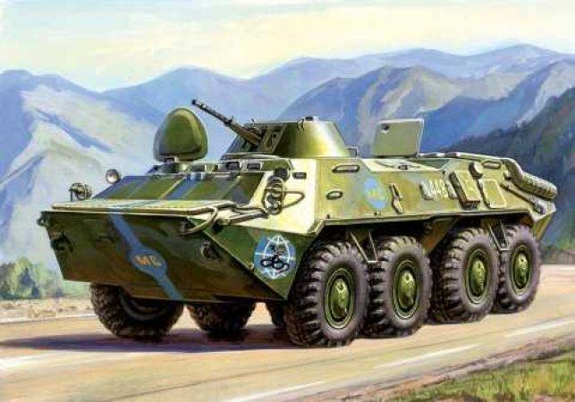 Zvezda Model Kit military - BTR-70 Soviet APC  (re-release)