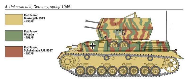 Italeri Model Kit military 7074 - Flakpanzer IV Wirbelwind