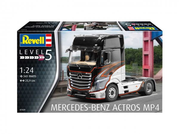 Revell Plastikový model kamionu Mercedes-Benz Actros MP4
