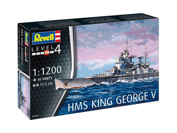 Revell Plastikový model lodě HMS King George V