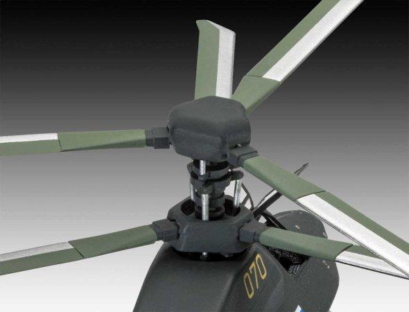 Revell Plastikový model vrtulníku Kamov Ka-58 Stealth