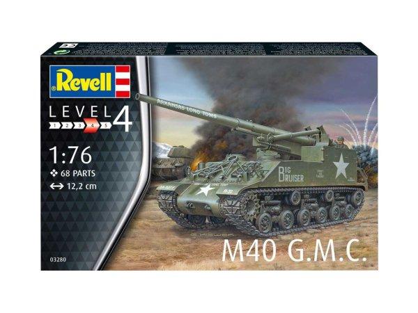 Revell Plastic ModelKit dělo - M40 G.M.C.