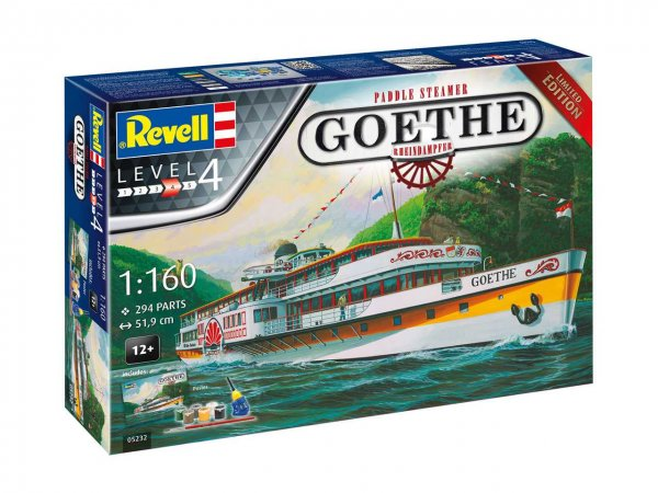 Revell Gift-Set - Plastikový model lodě Rheindampfer / Paddle Steamer GOETHE