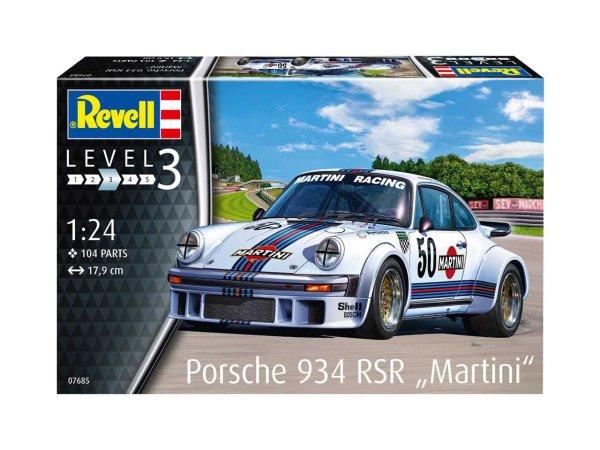 """Revell Plastikový model závodního auta Porsche 934 RSR """"Martini"""""""