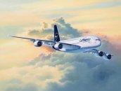 Revell Plastikový model letadla Airbus A380-800 Lufthansa New Livery