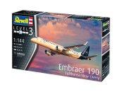 Revell Plastikový model letadla Embraer 190 Lufthansa New Livery