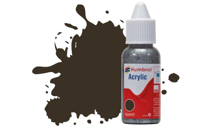 Humbrol Barva akrylová lesklá - Hnědá (Service Brown) - č. 10