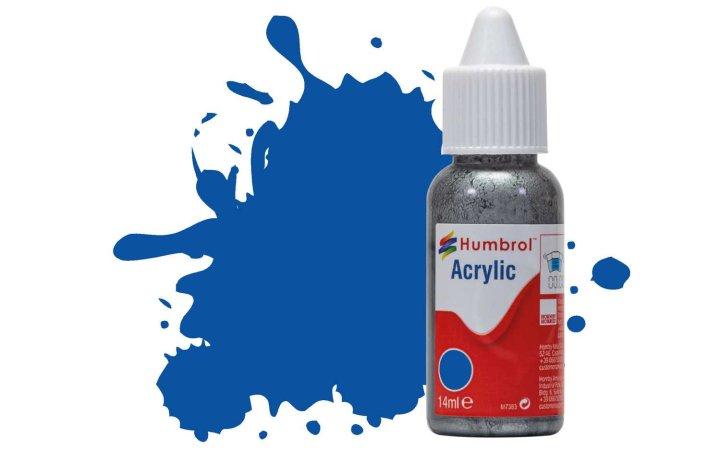 Humbrol Barva akrylová lesklá - Francouzská modrá (French Blue) - č. 14