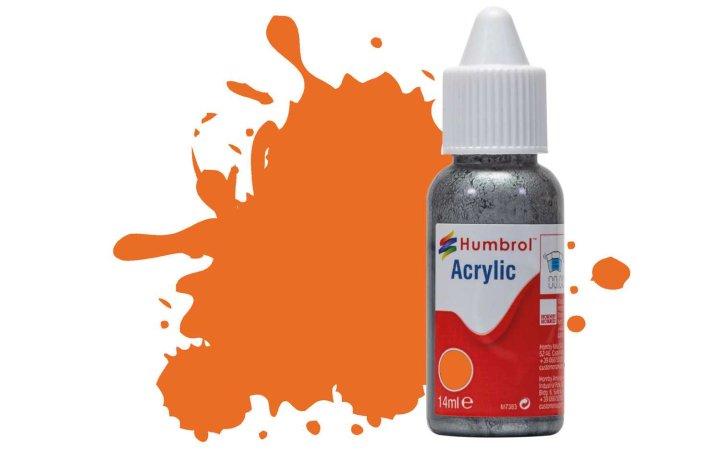 Humbrol Barva akrylová lesklá - Oranžová (Orange) - č. 18