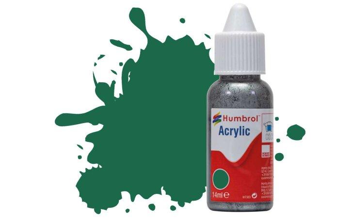 Humbrol Barva akrylová matná - Tmavě zelená (Dark Green) - č. 30
