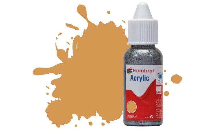 Humbrol Barva akrylová matná - Pískově žlutá (Sand) - č. 63