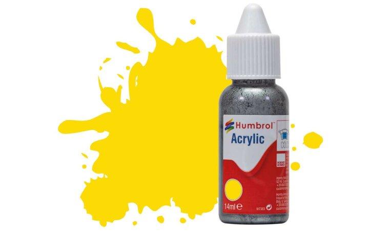 Humbrol Barva akrylová lesklá - Žlutá (Yellow) - č. 69