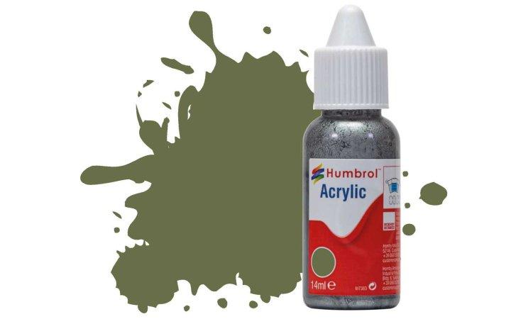 Humbrol Barva akrylová matná - Travní zelená (Grass Green) - č. 80