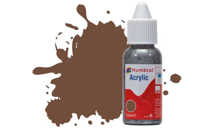 Humbrol Barva akrylová matná - Hnědá (Chocolate) - č. 98