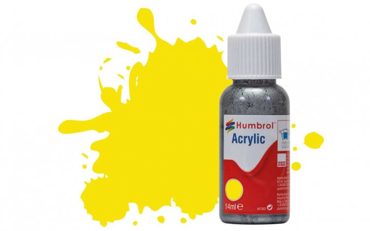 Humbrol Barva akrylová matná - Žlutá (Lemon) - č. 99