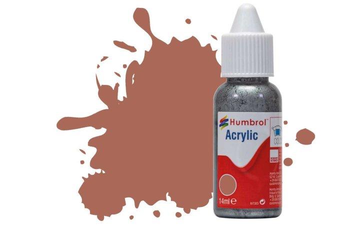 Humbrol Barva akrylová matná - Rezavá (Rust) - č. 113
