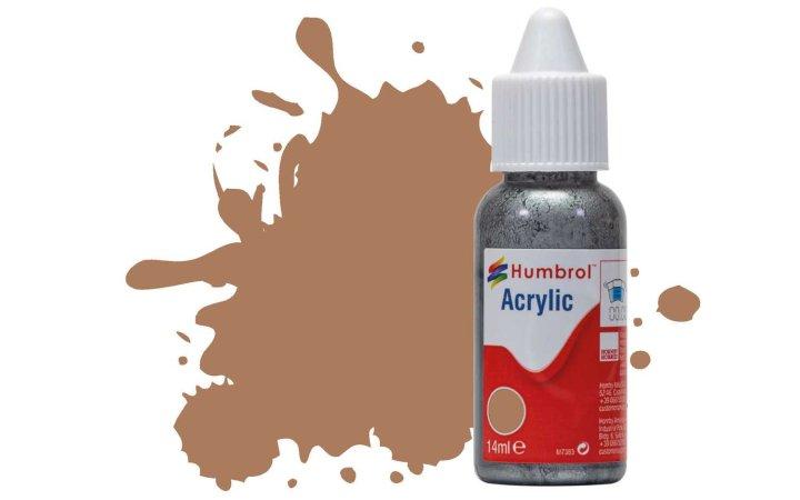 Humbrol Barva akrylová matná - Hnědá (US Tan) - č. 118
