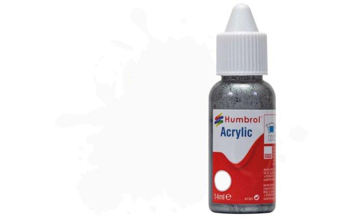 Humbrol Barva akrylová hedvábně matná - Bílá (White) - č. 130