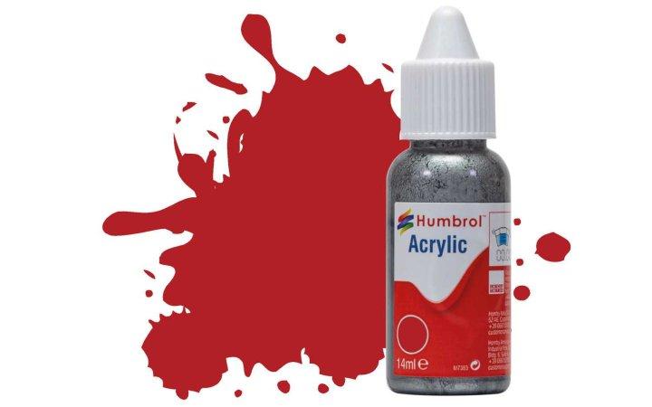 Humbrol Barva akrylová matná - Červená (Insignia Red) - č. 153
