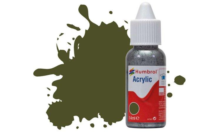 Humbrol Barva akrylová matná - Olivově zelená (Olive Drab) - č. 155