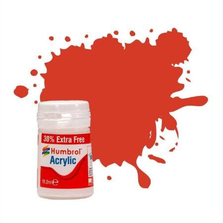 Humbrol Barva akrylová hedvábně matná - Červená (Signal Red Satin) + 30% navíc zdarma - č. 174