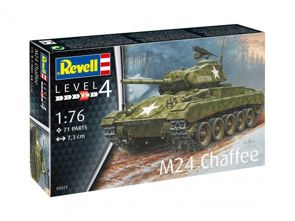 Revell Plastikový model tanku M24 Chaffee